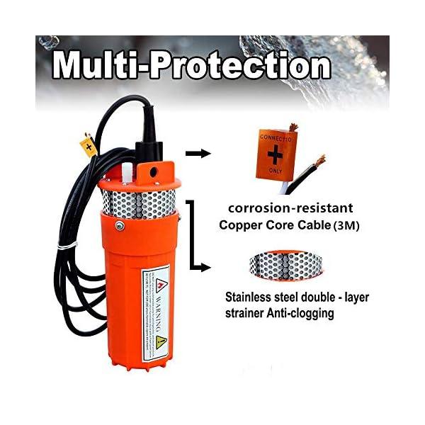 ECO-WORTHY – Bomba sumergible de corriente continua para pozo profundo (24 V, sumergible), para granja o rancho