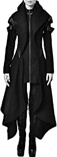 Womens Hoodie Irregular Steampunk Victorian Gothic Long Trench Coat Jacket Overcoat