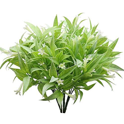 KostaTech 4 Piezas de Plantas Artificiales Morning Glory, 30 cm Ramo de Hojas Artificiales...