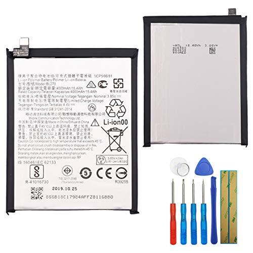 E-yiiviil Ersatzakku BL270 Kompatibel mit Moto G6 Play XT1922, XT1922-7 Lenovo K6 Note with Tools