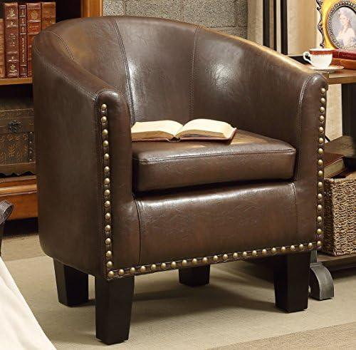 Best Rosevera Club Chair, Dark Brown