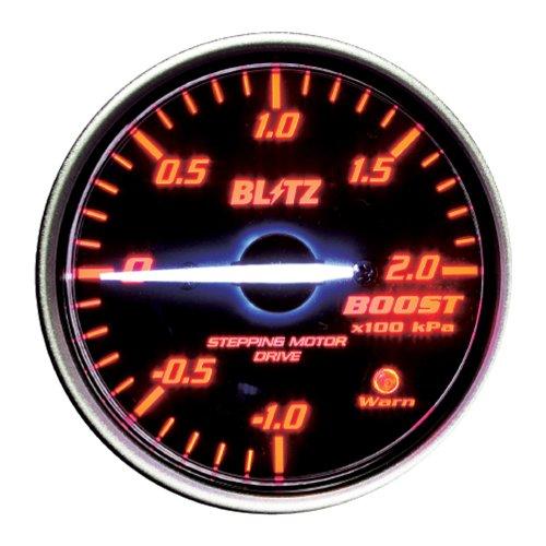 BLITZ(ブリッツ) RACING METER SD(レーシングメーターSD) 丸型アナログメーターφ60 BOOST METER RED 19581