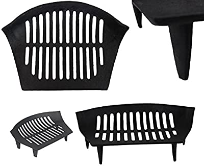 "15"" Chiltern Cast Iron Fireside Log Coal Fire Grate Mesh Open Fuel Grate Grill Wilsons Direct"