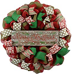 Merry Christmas Burlap Wreath