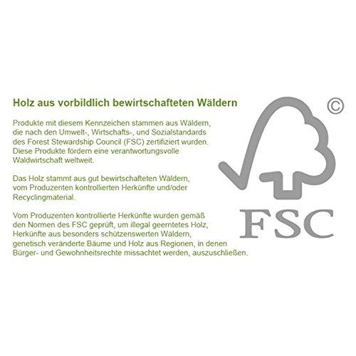STILISTA® Gartenbank Gartenbox aus 100% FSC zertifiziertem Shorea-Hartholz, geölt, Liftautomatik, inkl. Kissen in Farbe natur, 113 x 52,5 x 60,5 cm, Auflagentruhe - 7