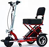 Triaxe Sport Foldable Scooter - Color Metallic Red - 18' Seat Width