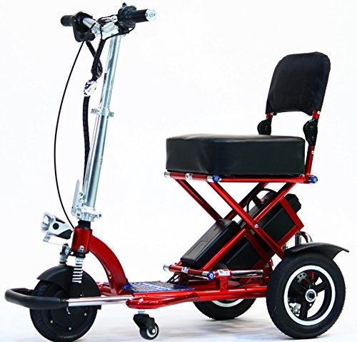 Triaxe Sport Foldable Scooter - Color Metallic Red - 18