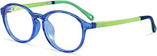 Kids Computer Blue Light Blocking Glasses for Boys and Gilrs,Blue