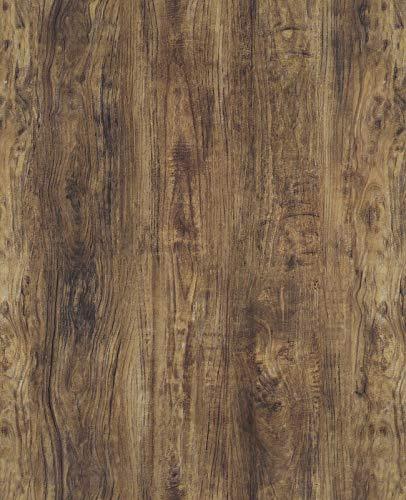 Papel pintado autoadhesivo marrón para muebles, papel pintado de madera de roble, papel pintado marrón, 45 cm x 300 cm, aspecto de madera, adhesivo para pared, mesa, armario, fondo de vinilo