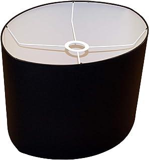 Abażur 320x400x260 mm średnica krótsza x średnica dłuższa x wysokość   Elipsa   Bawełna czarna   Pod oprawkę E27   Do lamp...
