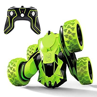 Threeking Rc Stunt Car Remote Control Off Road Truck Double Sided Tumbling 360 Degree Rotation 3D Deformation Dance Car Rechargeable Stunt Car Great Gift for Kids
