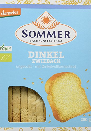 Sommer Dinkel-Zwieback vegan, demeter, 6er Pack (6 x 200 g)