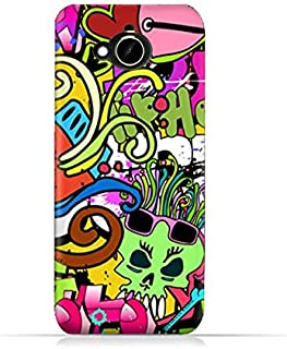 HTC Desire 10 Compact TPU Silicone Protective Case with Funky Seamless Freak Texture
