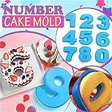 GreatestPAK Große Silikon Anzahl 0-9 Anzahl Backform Nummern Backen Geburtstag Kuchen Brot Küche DIY Form Kuchenform 9PCS
