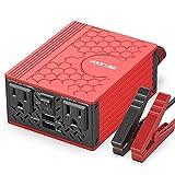 VOLTCUBE 150W Car Power Inverter 12V DC to 110V AC Converter with 3.1A Dual USB Car Adapter