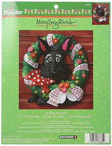 Bucilla Scottie Wreath Felt Applique Kit-16.5 x 14.5-inch, 16.5' x 14.5'