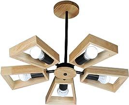 HN Lighting Chandelier Nordic Wood Pendant Light Simple Wooden Lighting Solid Wood Warm Bedroom Creative Personality Home ...