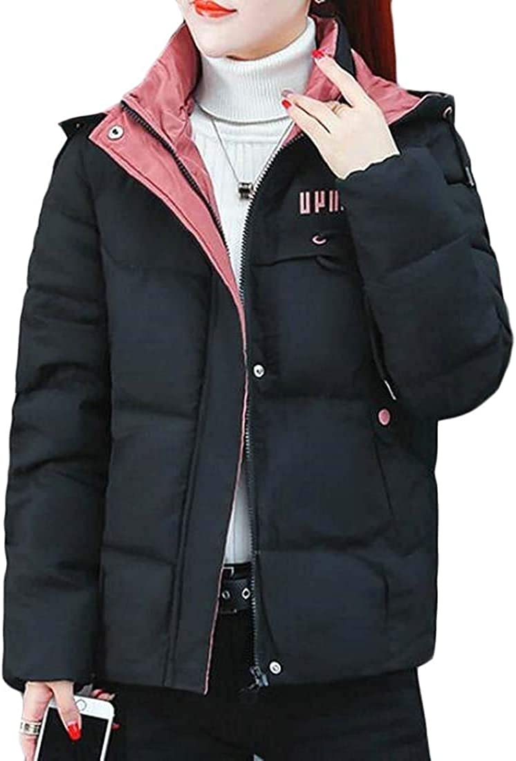 Andrea Spence Womens Winter Warm Zip Up Quilted Down Padded Jacket Coat Outerwear