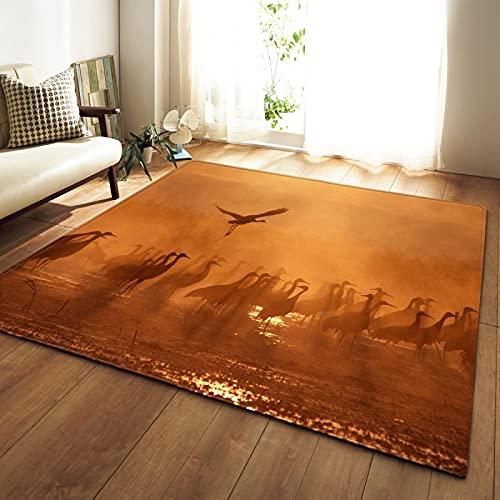 NHhuai Dormitorio Decoración para el hogar Alfombras de Dormitorio Paisaje de Campo Creativo Antideslizante Adecuado para Sala de Estar y Dormitorio.