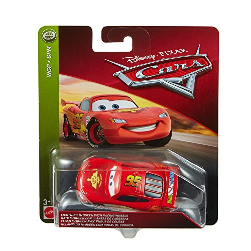 Disney Pixar Cars Lightning McQueen with Racing Wheels