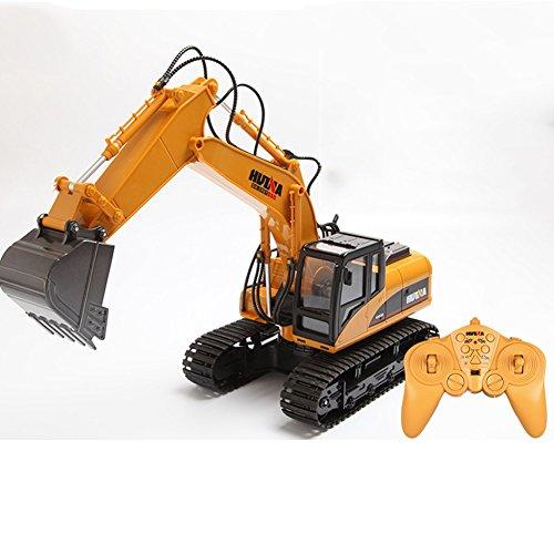 XUEQIN Excavadora alejada de la carga del juguete Aleación de la máquina de gancho del gancho eléctrico Modelo hidráulico teledirigido automático ( Color : Excavator )