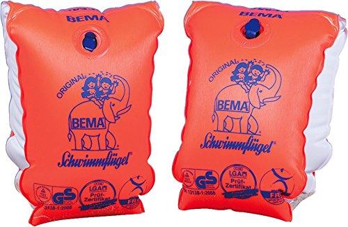 Bema Original Schwimmflügel, orange, Größe 1, 30-60 kg/6-12 Jahre (1 Paar)