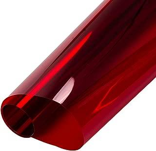 HOHOFILM 2Mil Red Tint Glass Film Window Film Glass Architectural Decorative Film for Home 152cmx50cm