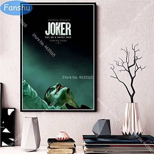 wtnhz Kein Rahmen Kunstplakat Joker Joaquin Phoenix s Plakate und Drucke Wandkunst Dekoration Leinwand Malerei Kinderzimmer Home Art Dekor 40x50cm