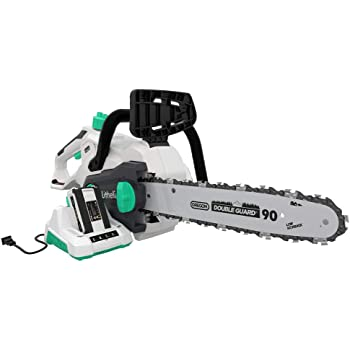 Litheli 40V Cordless Chainsaw 14 inches With Brushless Motor, 2.5AH Battery and Charger
