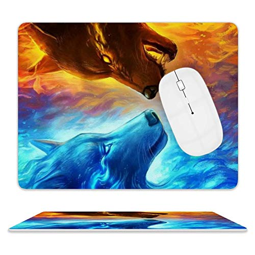 Couple Gaming, Office Desk Accessories, Laptops, and Other Edge Stitched Mouse Pads, 3D Non-Slip, Waterproof and Durable Rectangular Mouse Pads