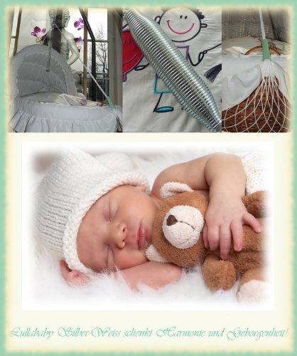 Lullababy® BabyMove, die Federwiege vom Erfinder des Federwiegens – Sicherheit durch neue getemperte Sanftschwingfeder. Feder und weißes Netz - bis 25 Kg