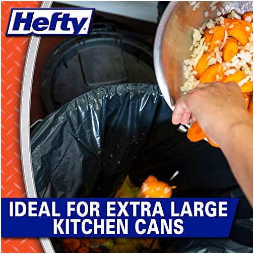 Hefty Strong Multipurpose Large Black Garbage Bags - 30 Gallon, 56 Count 5