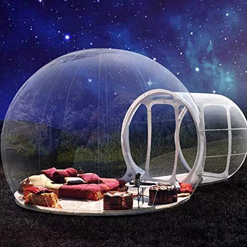 Aufblasbares Blasenzelt Transparent Eco Home Im Freien Bubble House - 360 ° Panorama Kuppel mit Luftpumpe Perfekt für Entspanne den Körper Blick auf die Sterne