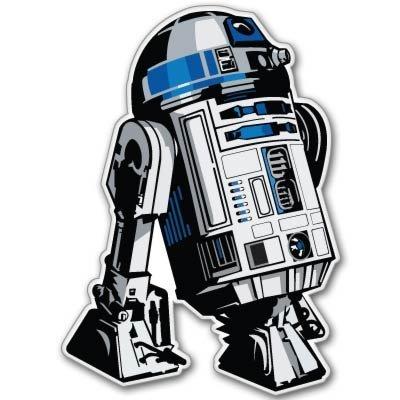 "Crawford Graphix Star Wars Astromech Droid R2-D2 Vynil Car Sticker Decal - 4"""