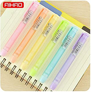 Retractable Erasable Pens - AIHAO Student Cute Frosted Mechanical Pencil Erasers Kawaii Transparent Candy Color Rubbers Gift Korean Stationery 1107