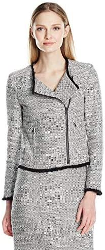 Ellen Tracy Minneapolis Mall Women's Petite Jacket Outstanding Moto Size Asymetrical