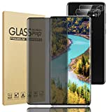 Galaxy S10 Plus Privacy Screen Protector, with 2 Pack Camera Lens Protector, 9H Hardness 3D Full Coverage Tempered Glass Bubble-Free, For Samsung Galaxy S10 Plus/S10+ (6.4')