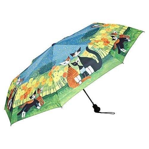 VON LILIENFELD Regenschirm Taschenschirm Rosina Wachtmeister: All Together Auf-Automatik Damen Kunst Leicht Stabil Katze