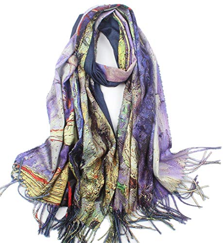 Women Soft Cashmere Feel Scarf Large Warm Scarves Winter Shawl Elegant Wrap Van Gogh's Art Collection (#19)