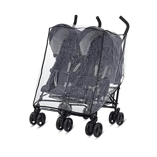 Inglesina Raincover for Twin Stroller Twin Swift Inglesina Ideal for protecting your child from wind and rain Compatible with the double buggy Twin Inglesina Swift 1