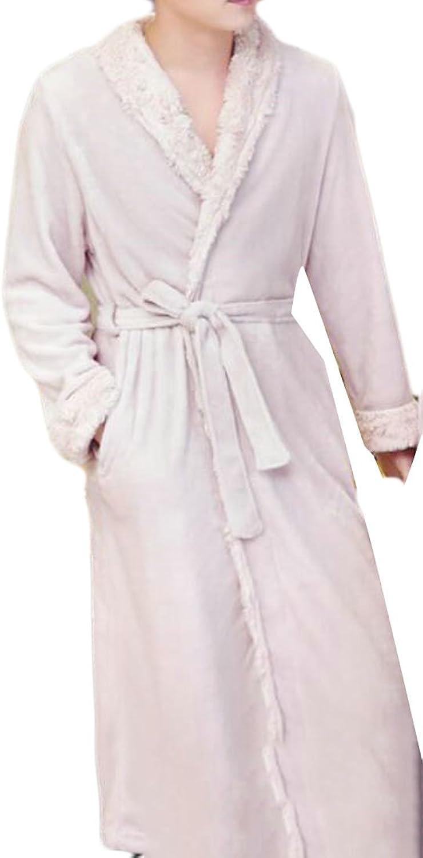 Cromoncent Mens Luxury Shawl Shawl Shawl Collar Thick Flannel Robes