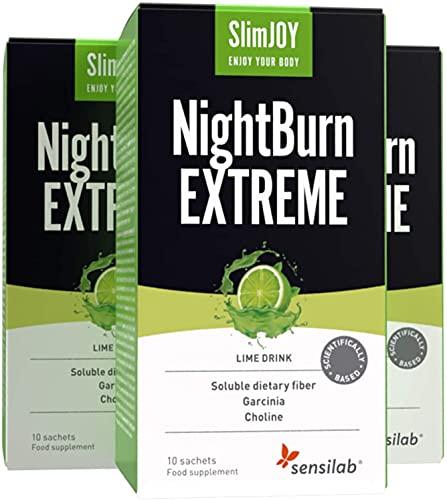 SlimJoy NightBurn EXTREME mit Garcinia Cambogia - 4in1 - 3x10 Beutel, ausreichend für 30 Tage