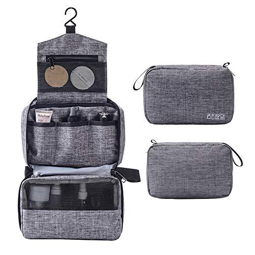 KAEHA SUN-059-14 Kosmetik-Aufbewahrung für Reisen im Freien, tragbar, mit Haken, wasserdicht, kratzfest, multifunktional, Grau