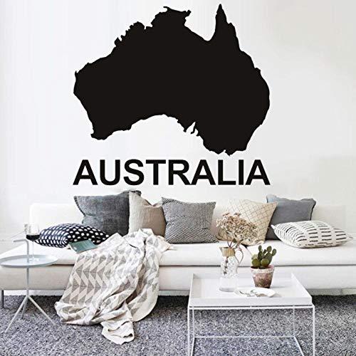 kldfig Australië kaart muur Sticker slaapkamer Decor accessoires Vinyl Kwekerij interieur muurstickers moderne Office School Decoratie-91x84cm