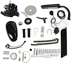 PEXMOR 2-Stroke 80cc Bicycle Motor Kit Motorized Bike Cycle Gasoline Petrol Gas Engine Refit Kit, Super Fuel-efficient for Bicycle Scooter (80cc (Black))