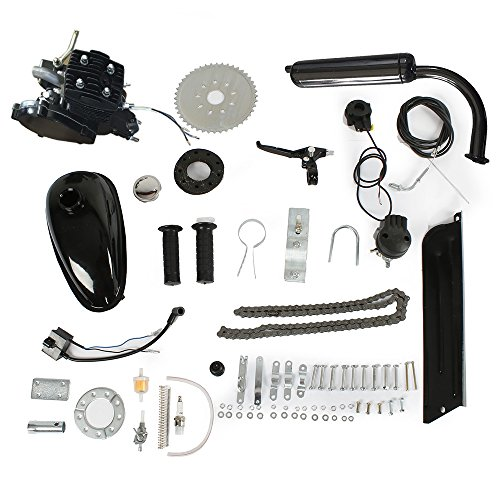 PEXMOR 80cc Bicycle Engine Kit, 2-Stroke Gas Motorized Bike Motor Cycle Gasoline Petrol Engine Refit Kit, Super Fuel-efficient for 24