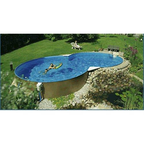 Hobby-Pool-Technologies Schwimmbecken 8-Form Elba 5,25 x 3,20m/1,50