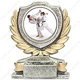 tecnocoppe Trofeo de Karate de 12 cm de altura, placa personalizada de regalo