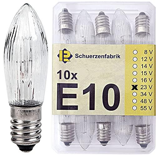 Schuerzenfabrik -  10x E10 Spitzkerze