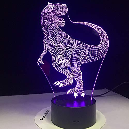HNXDP Ballon Hund 7 Farbe Lampe 3d Visuelle Led Nachtlichter